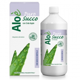 ALOE' PURO SUCCO BIO d'ALOE con MIRTILLO 1000ml