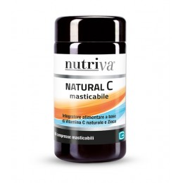 Nutriva NATURAL Vitamina C masticabile 60 compresse da 1100mg